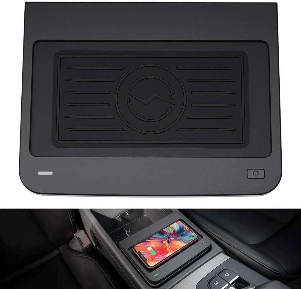 L&U Cargador de teléfono inalámbrico de Carga rápida, Center Console 3 bobinas QI Teléfono inalámbrico de Carga Estera del cojín Cabe para el Audi Q5 / SQ5 2016-2020