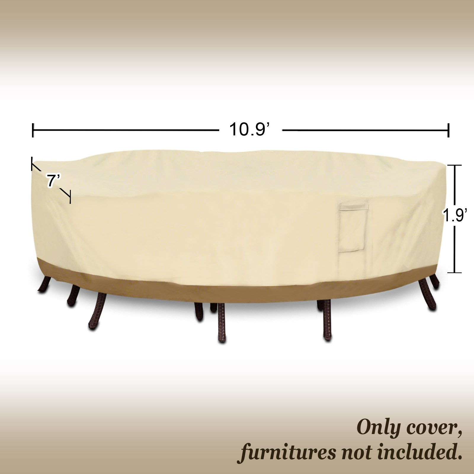 Strong Camel Rectangular Table/Chair 130'' L Cover Patio Garden Outdoor Furniture Winter Protect Large by Strong Camel (Image #2)