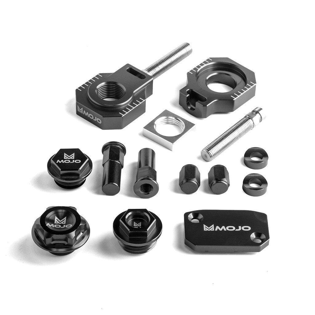 MojoMotoSport KTM Bling Kit Black - CNC Billet Anodized Aluminum - MOJO-KTM-BK1BLK