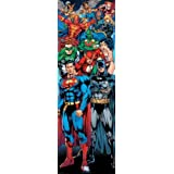 1art1 58694 Gerechtigkeitsliga - DC Comics Superhelden Tür-Poster, 158 x 53 cm