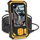 Industrial Endoscope,ROTEK 5M 1080P HD 4.3inch LCD Screen 2600mAh Rechargeable Battery Borescope, IP67 Waterproof…
