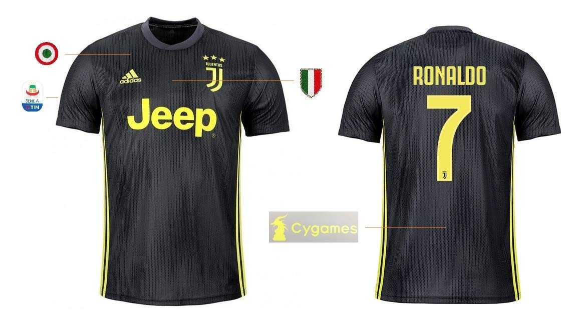 Juventus Turin Trikot Kinder 2018-2019 Third Serie A - Ronaldo 7