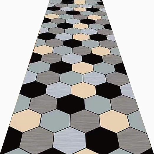 LIANGLIANG Alfombra De Pasillo 3D Geométrico Antideslizante Diseño ...