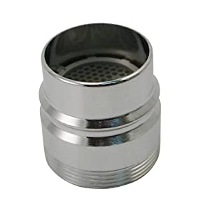 Keeney PP28003 Plumb Pak Faucet Aerator Adapter, for Use with Dishwashers with Large Snap-On Couplings, Chrome