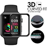 Electro-weideworld Apple Watch 42mm Protector de Pantalla, 3D Cobertura 9H Dureza Vidrio Templado Cristal Templado para Apple Watch Series 1/Series 2/ Series 3 42mm