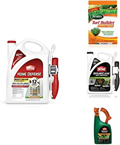 Ortho Outdoor Oasis Bundle, Includes Home Defense Insect Killer, Scotts Turf Builder with SummerGuard Lawn Food, Groundclear Weed & Grass Killer WeedClear Lawn Weed Killer