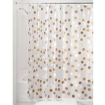 Amazon.com: InterDesign Gilly Dot Pvc-Free Peva Fabric Shower ...