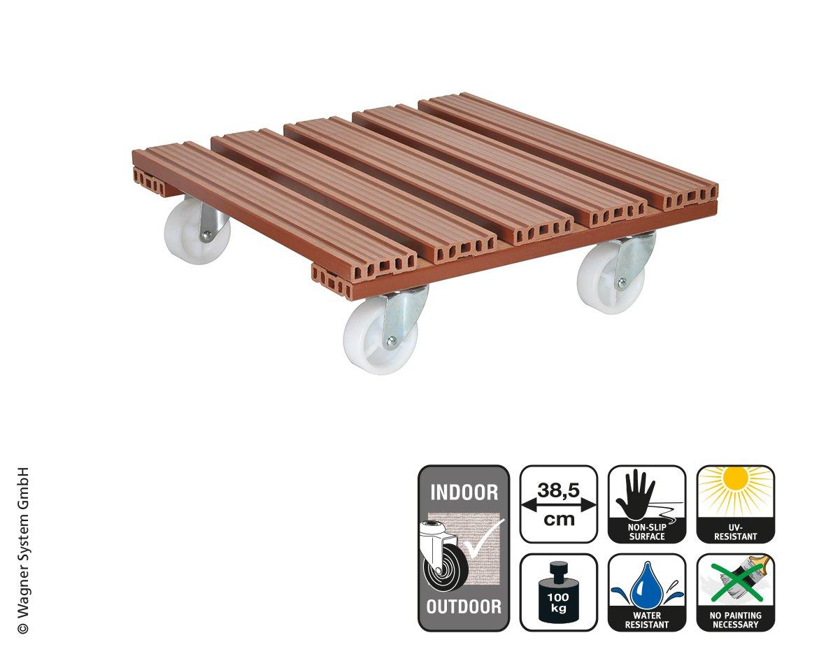 Wagner System 20055001 Multi-Roller Wpc Gardening Wagon, Terracotta