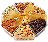 Holiday Nuts Gift Basket – Gift Baskets for Christmas, Food Gifts – 7-Section – Hula Delights
