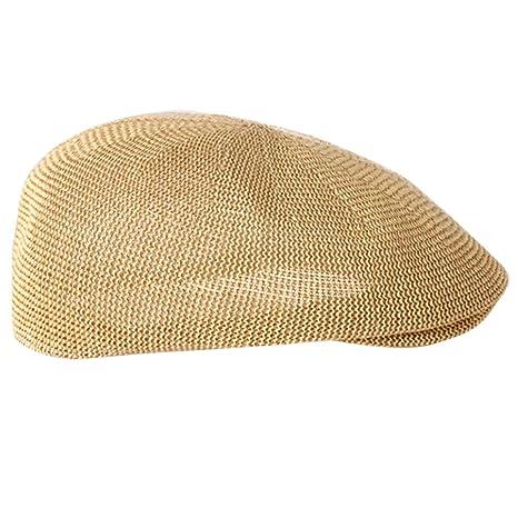 TININNA Estate Traspirante Gatsby Flat cap Coppola Sportivo Protezione di  Sole Cappello in Paglia Berretto con 5a456c5f1560
