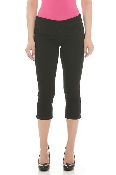 431666b4c23 Suko Jeans Women s Pull on Stretch Denim Jean Capri Pants  Amazon.ca ...