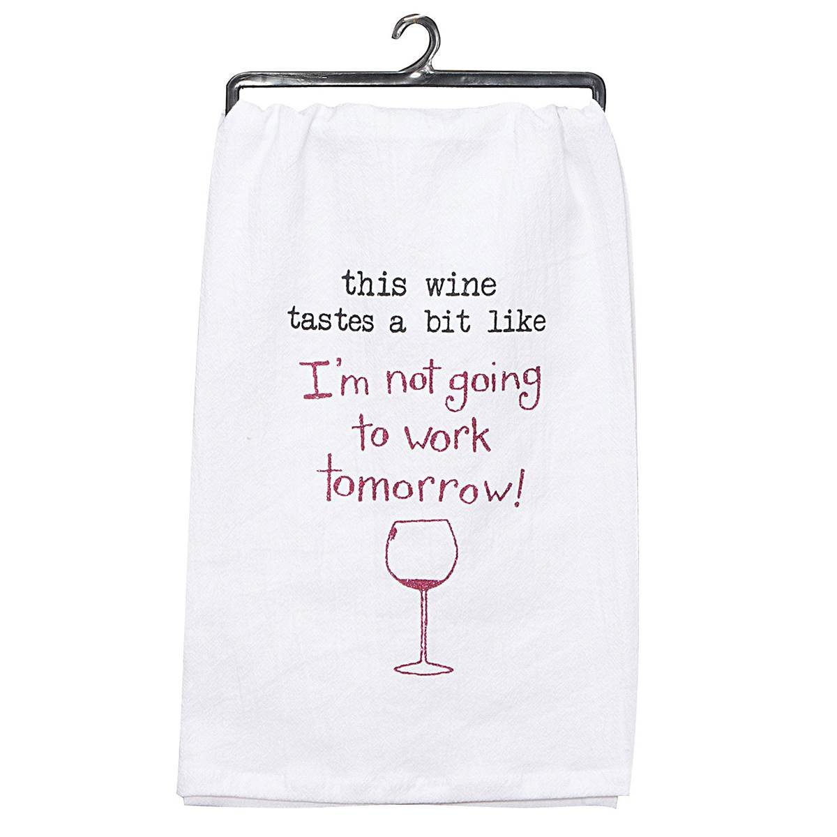 Set of 6 Wine Enthusiast Decorative Cotton Kitchen Dish Towel 26'' x 26'' by Kay Dee