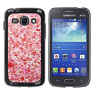 Paccase / SLIM PC / Aliminium Casa Carcasa Funda Case Cover para - Hot Love Red White Pattern - Samsung Galaxy Ace 3 GT-S7270 GT-S7275 GT-S7272