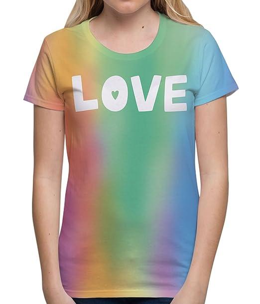 Camisetas Totalmente Impresas por sublimación para Mujer Love para el día del Orgullo Gay Tops de Verano con Dibujos para Mujer: Amazon.es: Ropa y ...