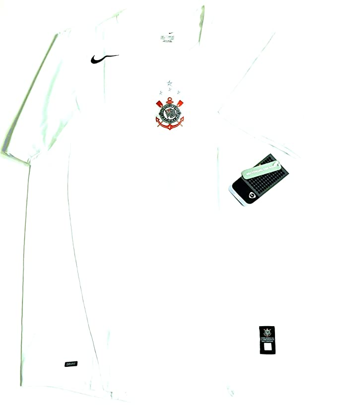 Nike S.C Corinthians (Brazil) Authentic Herren Football Shirt Trikot Fussball (Size L)