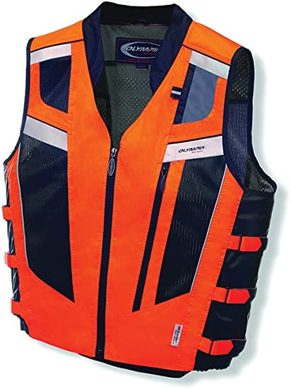 Black Hi-Vis Motorcycle Vest