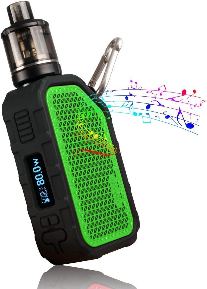 Wismec Active 80W Mod Batteria con vaporizzatore Amor NSE, altoparlante Bluetooth, batteria integrata 2100 mAh, no e-liquid, no nicotina (Verde)