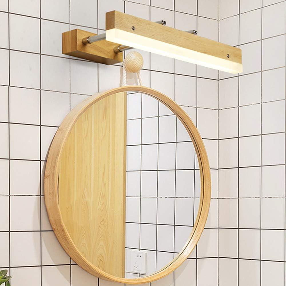 Lakiq Modern Linear Vanity Light Fixture Nordic Oak Wooden Bathroom Led Wall Sconce Light For Mirror Extendable Adjustable White Light 16 Amazon Com