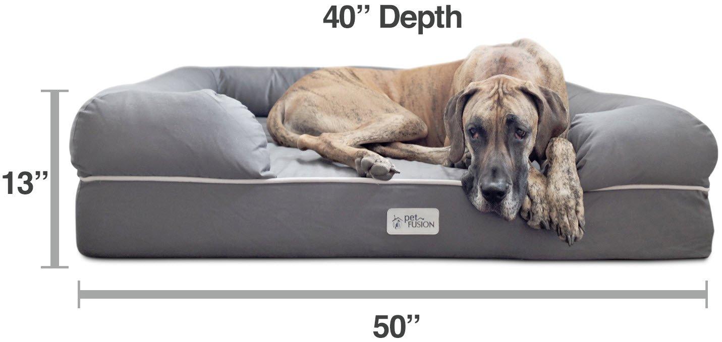 Cama de espuma viscoelástica para perros medianos y grandes, Gris (Jumbo Bed), 127 x 102 x 33 cm: Amazon.es: Productos para mascotas