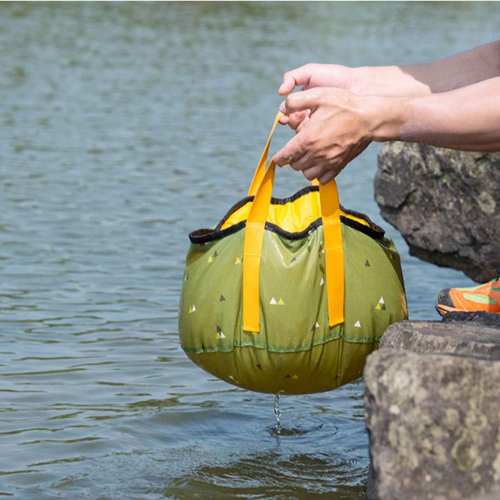 La cubeta Plegable de Viaje al Aire Libre Puede : Contener Agua Caliente (Color : Puede B, tamaño : 16L) 0607ff