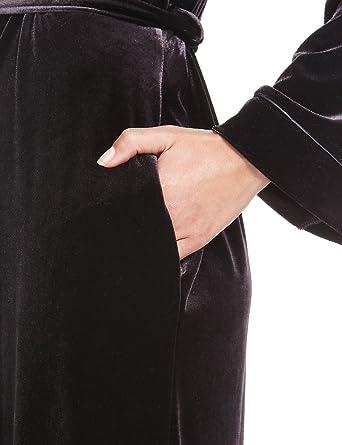 Marks Spencer Womens Per Una Black Velour Luxurious Soft Velvet