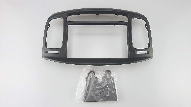 Car Radio Fascia Panel for Hyundai Accent 2009-2012/ Verna 2006-2009 Facia Plate Dash Kit Install Bezel Trim Adapter Console