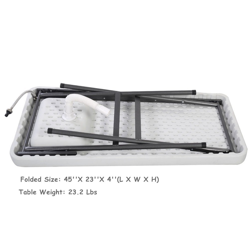 Folding Portable Fish Hunting Cleaning Cutting Table Camping Sink Faucet TKT-11 by TKT-11 (Image #9)