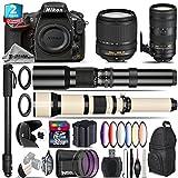 Holiday Saving Bundle for D810 DSLR Camera + 70-200mm f/2.8E VR Lens + 18-140mm VR Lens + 650-1300mm Telephoto Lens + 500mm Telephoto Lens + 6PC Graduated Color Filer Set - International Version