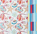 "Seaside Stripes Reversible Gift Wrap Roll with Gift Tags - 24"" x 18'"