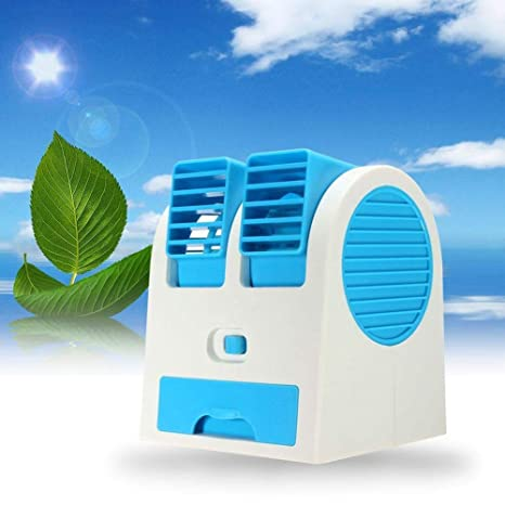 Handily Mini USB Fragrance Air Conditioner Cooling Fan Cooling Portable Desktop Dual duct Air Cooler