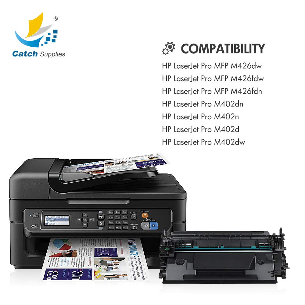 2 Pack CF226A 26A Black Toner Cartridge for HP Pro M402dn M402dw M402n Printer