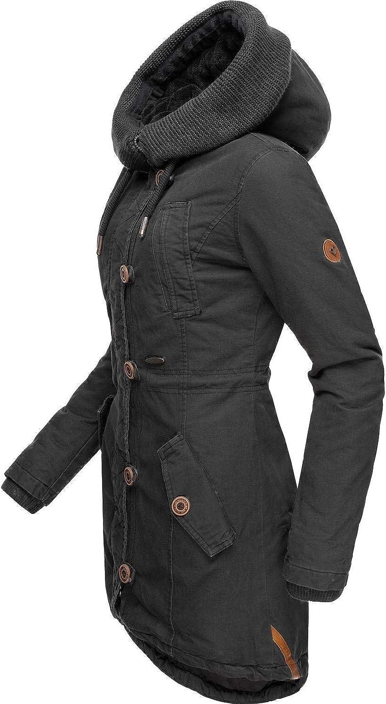 Alife And Kickin - Cappotto Invernale da Donna, 3 Colori, Taglie XS-XL Nero