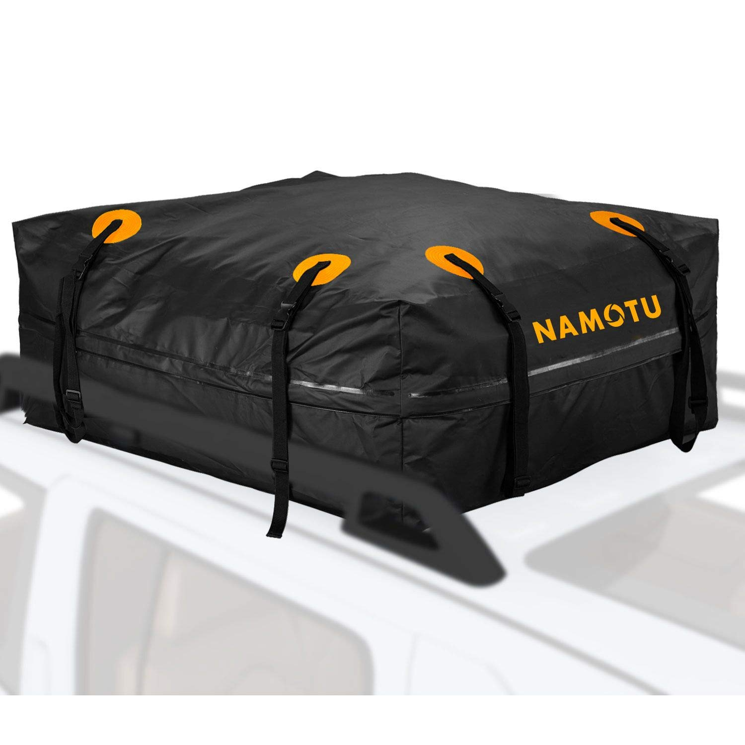 Cargo Bag, Namotu 15 cu. ft Roof Top Cargo Bag Waterproof Car Top Carrier Works with Side Rails, Cross Bars or Rack