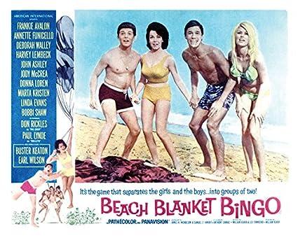 e0231f4e6afb Amazon.com  Beach Blanket Bingo Movie Poster or Canvas  Posters   Prints