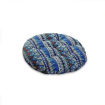 Amazon.com: Sundlight Round Floor Cushion,Cotton Linen Chair ...