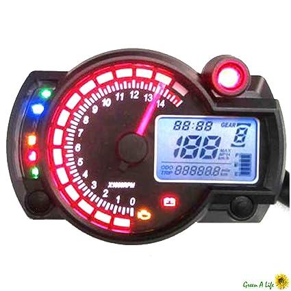 Amazon com: Motorcycle Digital Speedo Tachometer Odometer KPH & MPH
