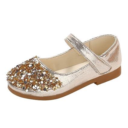 99b6895ebf705 Amazon.com: Sparkle Princess Shoes for Girls Rhinestone Sparkle Flat ...