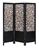 Deco 79 Room Dividers Wood Screen Panel, 72/60-Inch, Set of 3