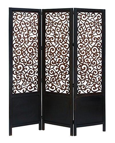 60 Panel Screens (Deco 79 Room Dividers Wood Screen Panel, 72/60-Inch, Set of 3)
