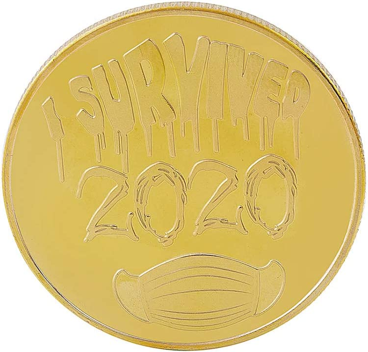 Commemorative Coins Medal Collection Copy Coins 2020 Survivor Memorial for Friends Golden