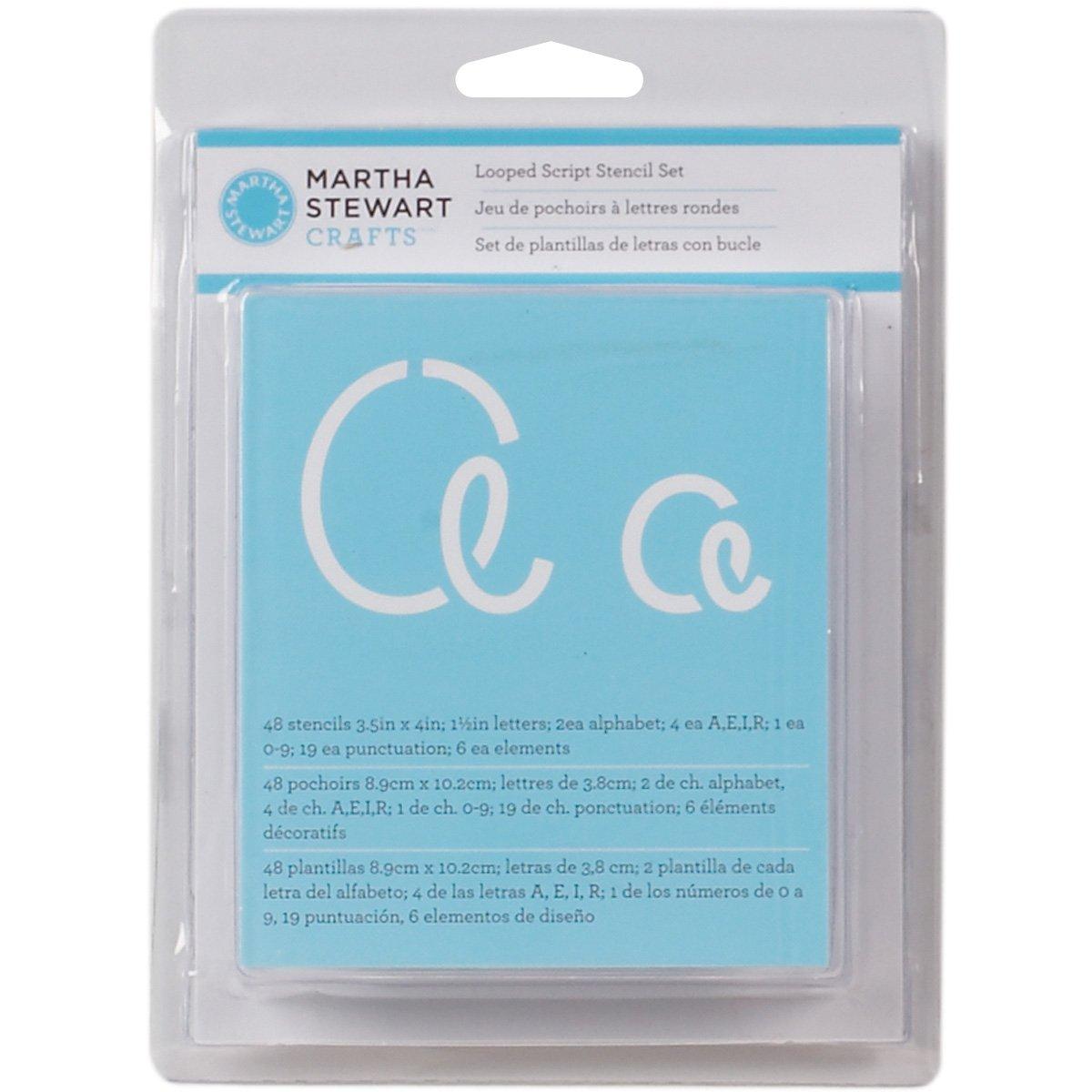 Amazon martha stewart crafts alphabet stencil 32273 looped script spiritdancerdesigns Choice Image