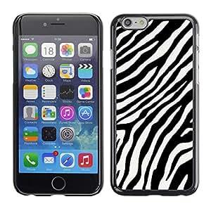 Caucho caso de Shell duro de la cubierta de accesorios de protección BY RAYDREAMMM - Apple iPhone 6 - Black White Stripes Lines Africa