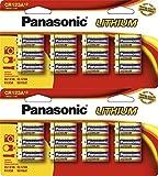 24 Panasonic CR123A 123A 3V Lithium Batteries Original Retail Pack