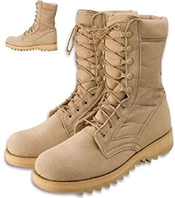 Jungle Boots 10 quot  Desert Military Speed Lace Ripple Sole Jungle Boots 04241077062