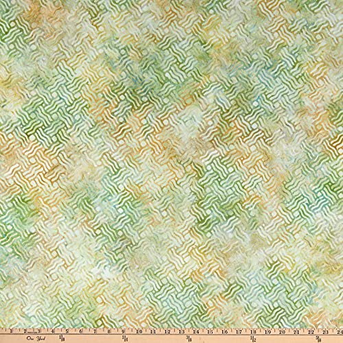 Indonesian Batik Fabrics - Kaufman Artisan Batiks  Cornucopia 10 Basket Weave Grass Fabric by the Yard