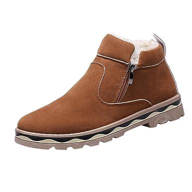 6131a77bf08b1e Stiefeletten Herren Btruely Männer Knöchel Schneestiefel Männer  Freizeitschuhe Hoch oben Schuhe Junge Wanderstiefel Schuhe Plüsch Outdoor