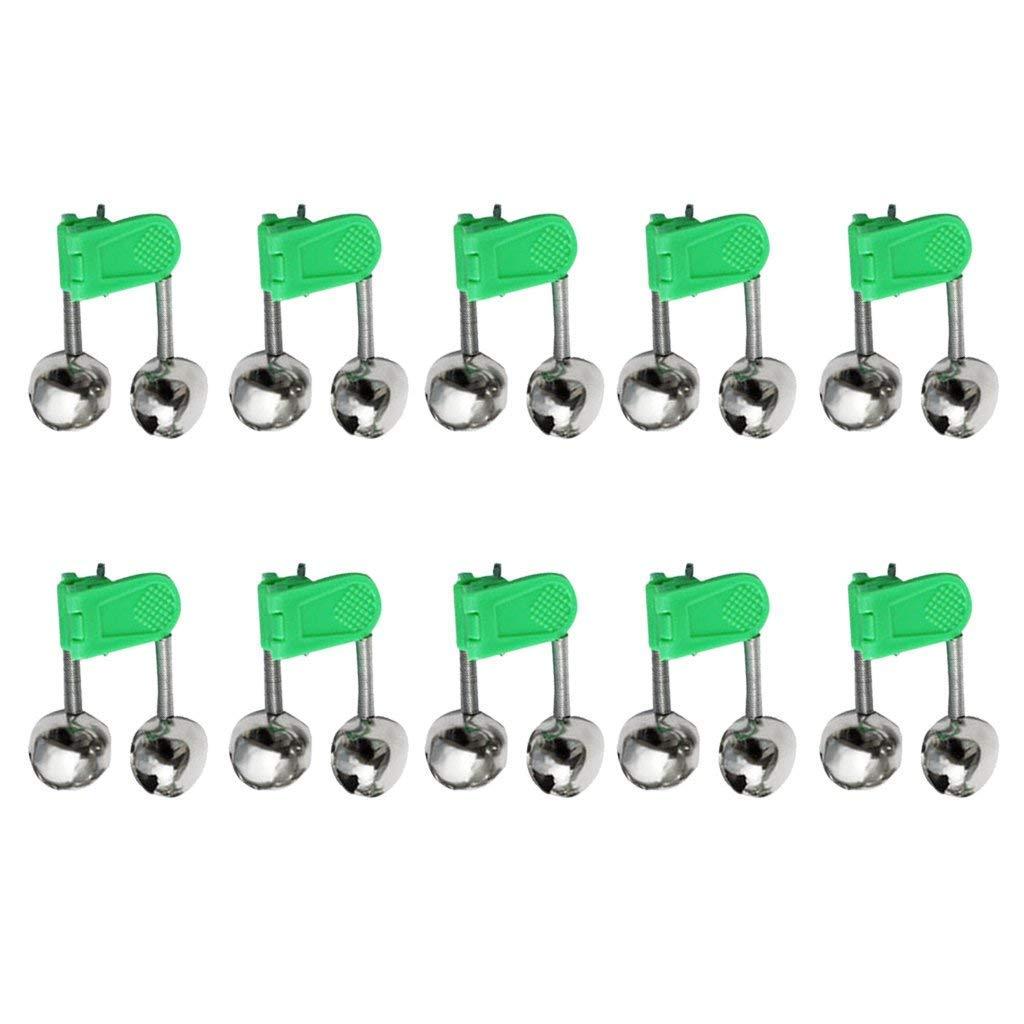 Unicoco10pcs LED Twin Bell Angelger/ät Green Rod Clip Tip Lights Bissanzeiger K/öder Alarm Angeln Alarm Ultra hohe Qualit/ät