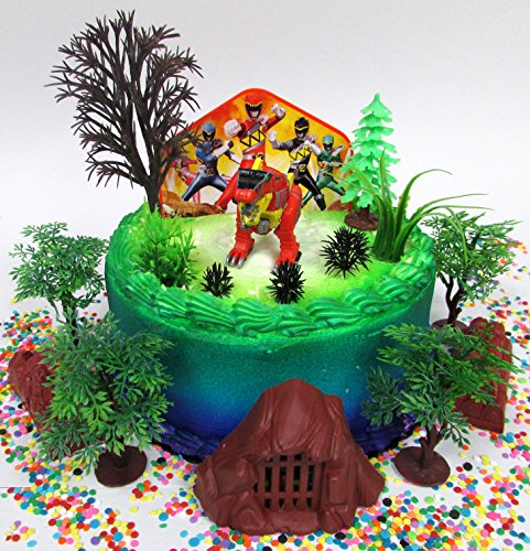 Power Rangers Birthday Cake Topper Set Featuring Figure and Decorative Themed (Power Rangers Birthday Cake)