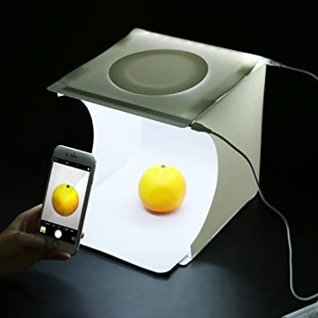 Ueasy portátil Photo Studio Shooting Tent & plegable Mini Photo caja con color blanco y negro