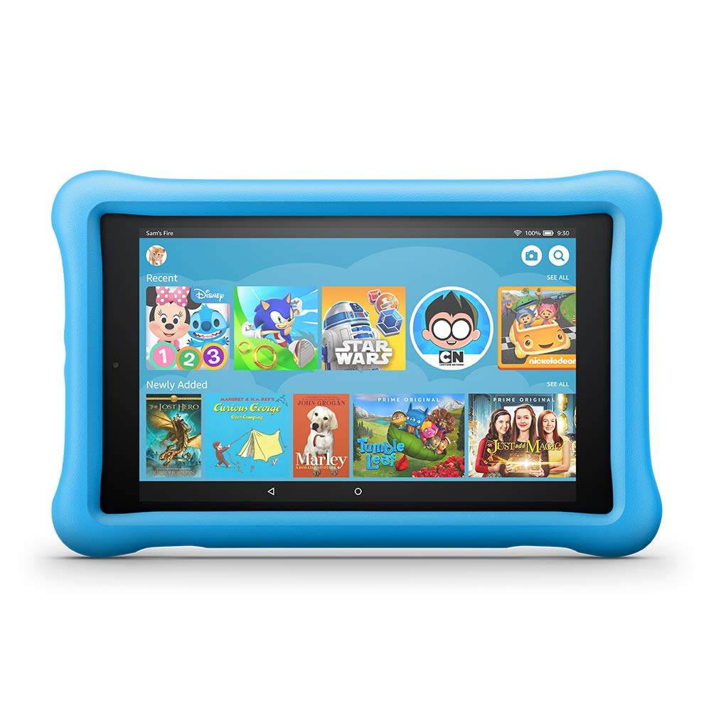 Fire HD 8 Kids Edition Tablet, 8'' HD Display, 32 GB, Blue Kid-Proof Case by Amazon